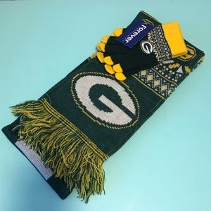 Green Bay Packers NFL Women's Scarf and Mitten Set